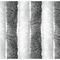 Bejárati függöny 56x205 cm fehér/ezüst