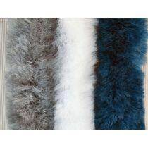 Bejárati függöny 100x205 cm kék/fehér/szürke