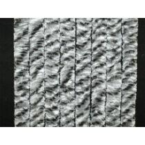 Bejárati függöny 100x205 cm fehér/ezüst/antracit