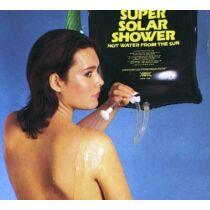 Solar zuhanyzó, 20 literes PVC tartály csővel és zuhanyfejjel.