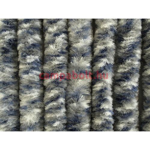Bejárati függöny 100x205 cm fehér/szürke/kék