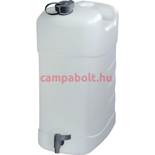Ivóvízkanna leeresztőcsappal és a fedelén kifolyócsővel, 35 liter.