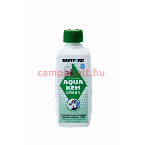 Aqua Kem Green biológiailag lebomló, környezetbarát lebontószer hordozható szobai és beépített bio WC-hez.