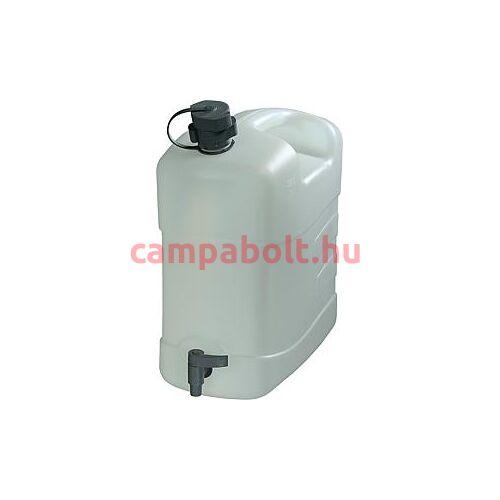 Ivóvízkanna leeresztőcsappal és a fedelén kifolyócsővel, 15 liter.