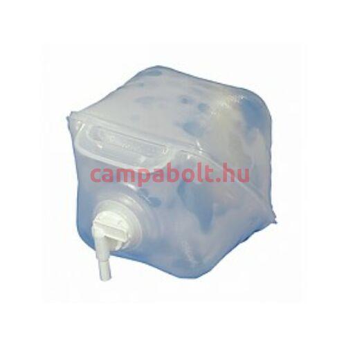 Összecsukható 20 literes vizes kanna fogantyúval és csappal.