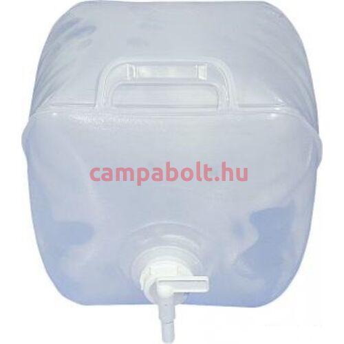 Összecsukható 10 literes vizes kanna fogantyúval és csappal.