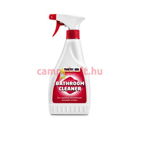Nagy hatékonyságú tisztítószer a fürdőszobai műanyag felületekhez.